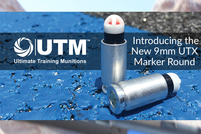 UTM releases a marking cartridge compatible with 9mm SIMUNITION FX conversion devices